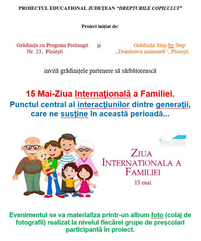 Proiect ziua familiei